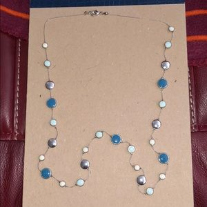 Blue statement necklace from Francesca's